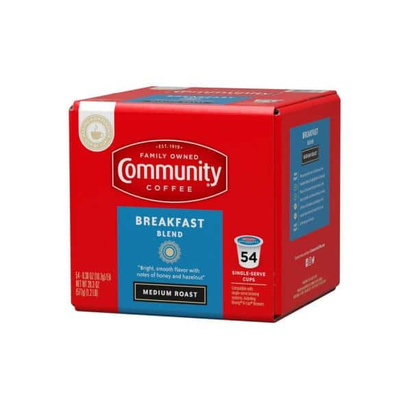 Community Coffee Breakfast Blend Medium Roast Coffee Single Serve Cups 54 Pack 16339 The Home Depot