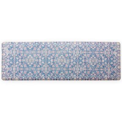 Blue Kilim 60 in. x 20 in. Anti-Fatigue Comfort Long Mat