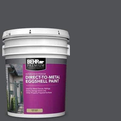 5 gal. #PPU18-01 Cracked Pepper Eggshell Direct to Metal Interior/Exterior Paint