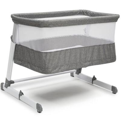 Simmons Kids Grey Tweed Room2Grow Newborn Bassinet to Infant Sleeper