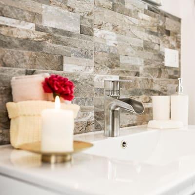 Megan Single Hole Single-Handle Bathroom Faucet in Stainless Steel