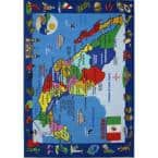 Map of Mexico Multi Colored 8 ft. x 11 ft. Area Rug