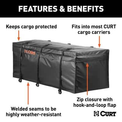"""56"""" x 22"""" x 21"""" Water Resistant Hitch Cargo Bag"""