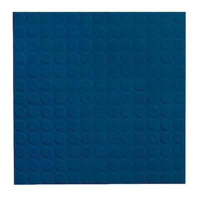 Vantage Circular Profile 19.69 in. x 19.69 in. Deep Navy Rubber Tile