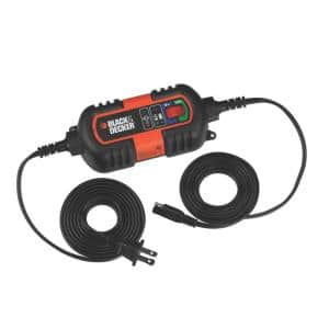1.2 Amp Portable Car Battery Charger/Maintainer Compatible with 6 and 12-Volt AGM, GEL and WET Auto/Marine Batteries