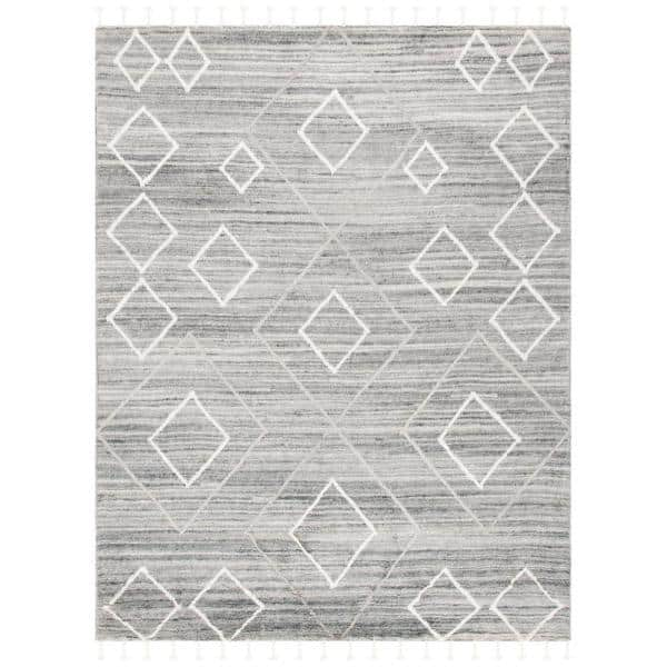 Safavieh Casablanca Gray Ivory 8 Ft X 10 Ft Area Rug Csb460f 8 The Home Depot