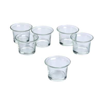 Clear Glass Lip Votive Candle Holders (Set of 36)