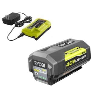 40V Lithium-Ion 4.0 Ah Battery and Charger