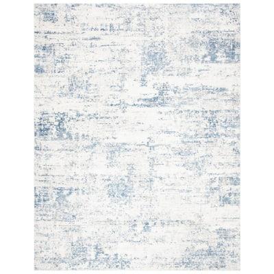 Amelia Ivory/Blue 8 ft. x 10 ft. Area Rug