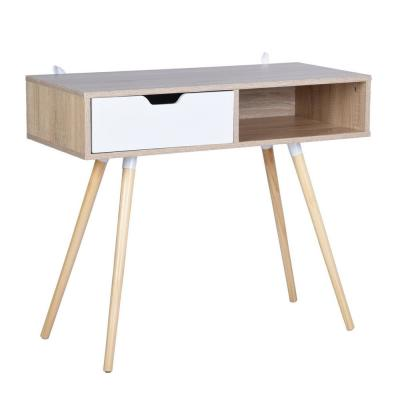 Ultron Oak 35.4 in. Computer Desk With Drawer