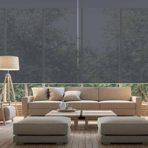 Cut-to-Size 66.5 in. W x 73 in. L Brown Cordless Solar Screen Roller Shade