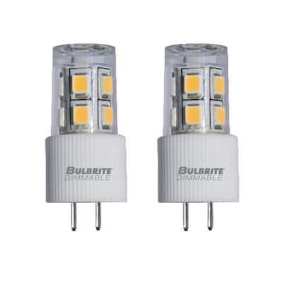 15-Watt Equivalent JC Non-Dimmable Bi-Pin (G4) LED Light Bulb Warm White Light (2-Pack)