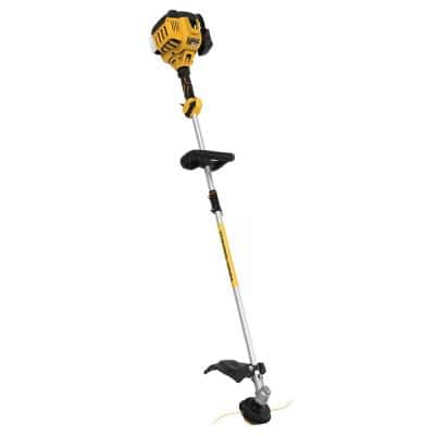 27cc 2-Cycle Gas Straight Shaft String Trimmer with Attachment Capability