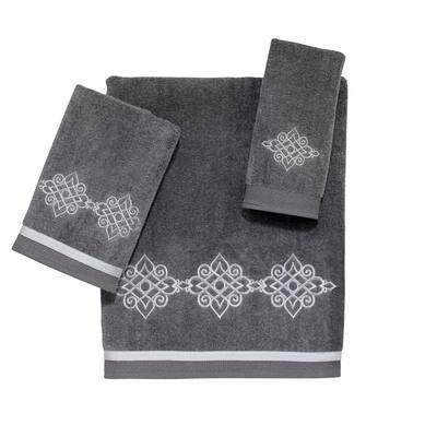 3-Piece Nickel Riverview Cotton Towel Set