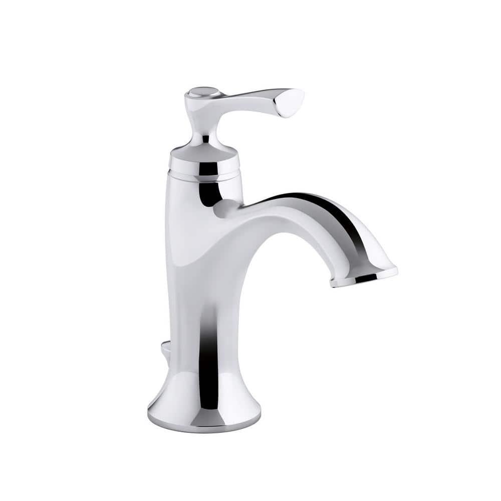 Kohler Elliston Single Hole Single Handle Bathroom Faucet In Polished Chrome K R72782 4d1 Cp The Home Depot