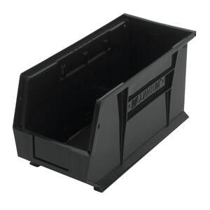 Ultra-Series 5-Gal. Stack and Hang Storage Tote in Black (6-Pack)