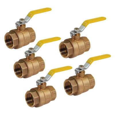 2 in. FIP Brass Gas Ball Valve (Pack of 5)