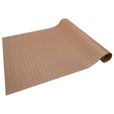 Coin-Pattern Rubber Flooring Brown 36 in. W x 300 in. L Rubber Flooring (75 sq. ft.)