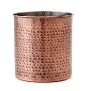 7 in. Jumbo Hammered Antique Copper Utensil Holder
