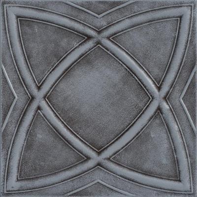 Elliptic Illusion 1.6 ft. x 1.6 ft. Glue Up Foam Ceiling Tile in Moss Gray