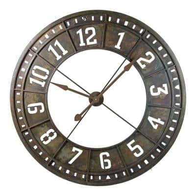 Black Metal Wall Clock with Back Light