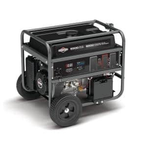 6500-Watt Electric Switch Gasoline Powered Portable Generator with B and S OHV Engine Featuring CO Guard