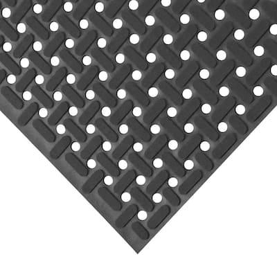 Paw-Grip Black 34 in. x 4 ft. Nitrile Non-Slip Rubber Mat