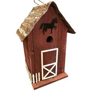 Red Summitville Stable Birdhouse