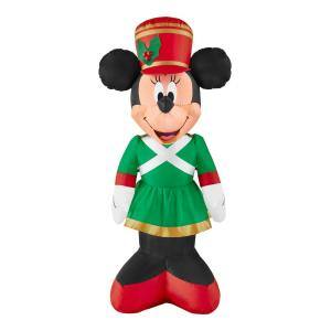 3.5 ft Pre-Lit LED Airblown Disney Minnie as Toy Soldier Christmas Inflatable