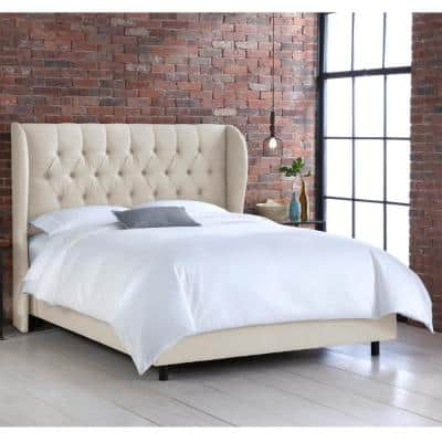 Linen Talc Beds Bedroom Furniture The Home Depot