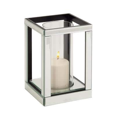 Silver Glass Glam Candle Holder