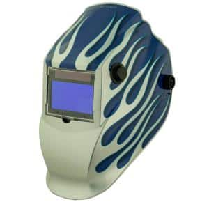8735SGC Blue/Silver Flame 9 -13 Shade Auto Darkening Welding Helmet with 3.78 in. x 2.05 in. viewing area