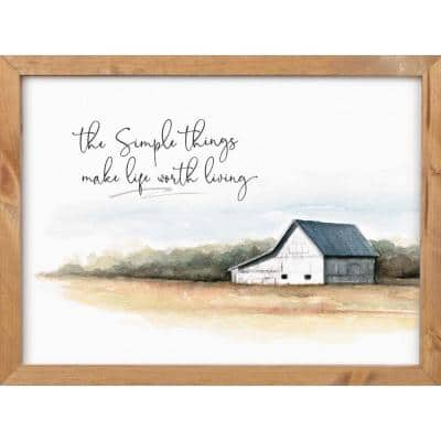 The Simple Things Make Life Worth Living White Wood Individual Wall Art