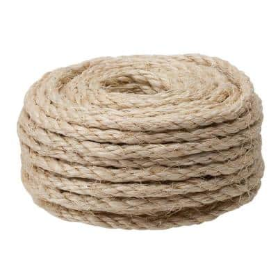 3/8 in. x 50 ft. Twisted Sisal Rope, Natural