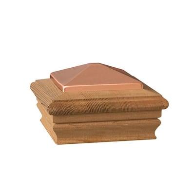 4 in. x 4 in. Wood Copper High Top Post Cap