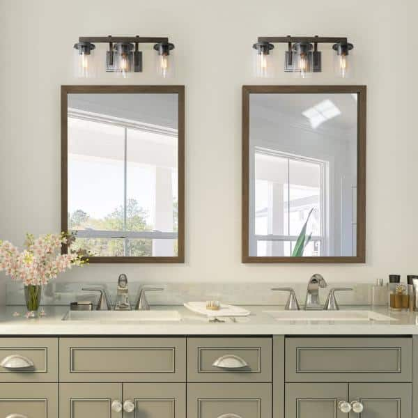 3 Light Rust Gray Bathroom Vanity, 3 Light Bathroom Vanity Light
