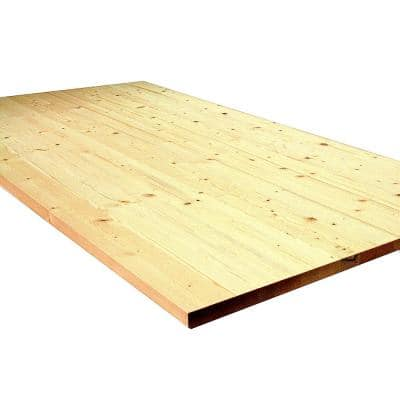 1 in. x 18 in. x 36 in. Allwood Pine Project Panel Table Island Top with Routed Edges on one Face