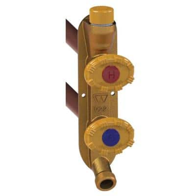 3/4 in. PEX x 4 in. L Freezeless Model V22 Anti-Rupture Hot and Cold Sillcock Valve