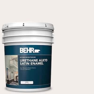 5 gal. #RD-W10 New House White Urethane Alkyd Satin Enamel Interior/Exterior Paint