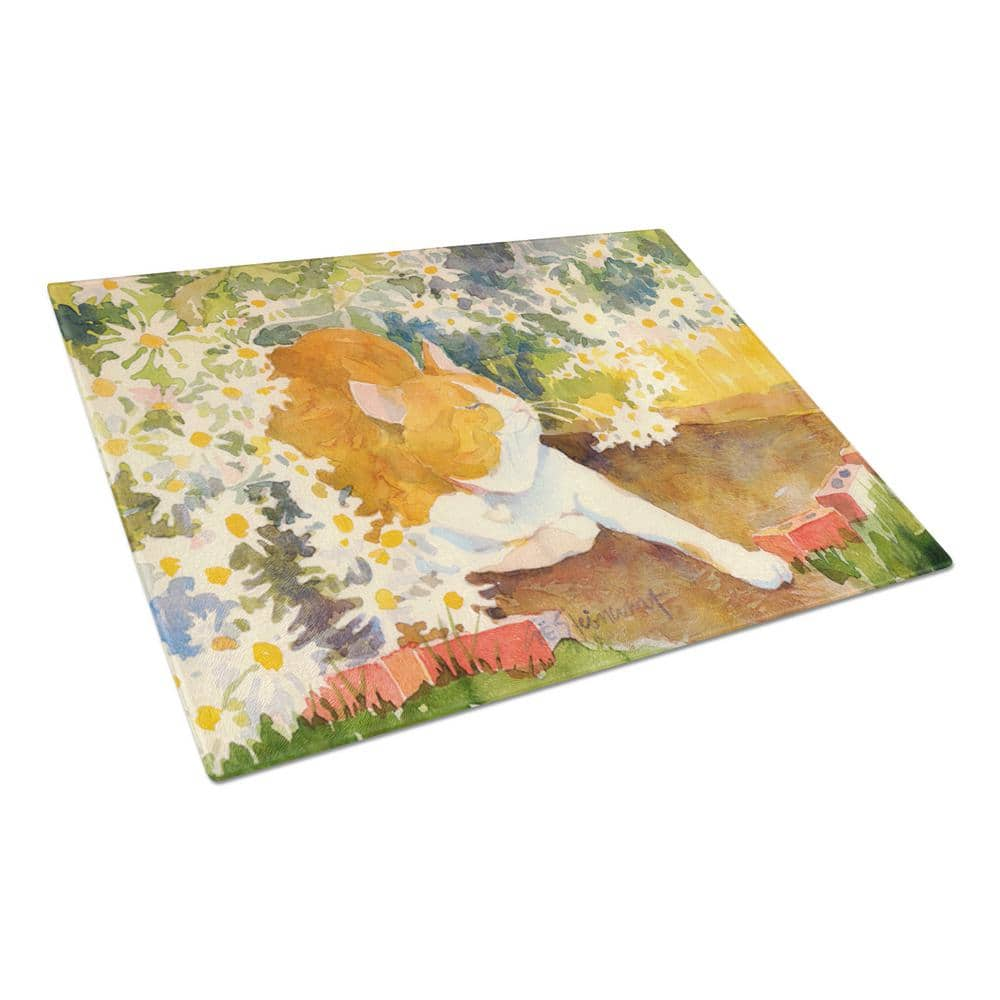 Caroline S Treasures Cat Tempered Glass Large Cutting Board 6030lcb The Home Depot