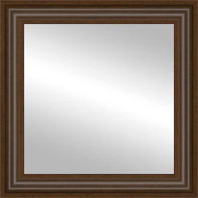 12x12 Wright Walnut Framed Mirror