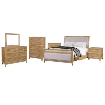 Nailhead Trim Wood Bedroom Sets Bedroom Furniture The Home Depot