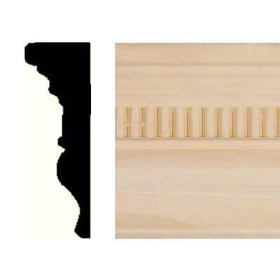 7/8 in. x 2-5/8 in. x 8 ft. Hardwood Emboss Chair Rail Moulding
