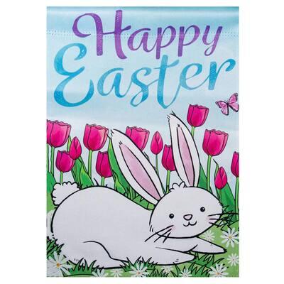 12.5 in. x 18 in. Happy Easter Bunny Outdoor Garden Flag