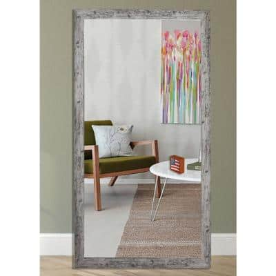 Oversized Rectangle White Mirror (70 in. H x 35 in. W)