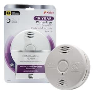 10-Year Worry Free Smoke & Carbon Monoxide Detector, Lithium Battery Power & Voice Alarm, Fire Alarm