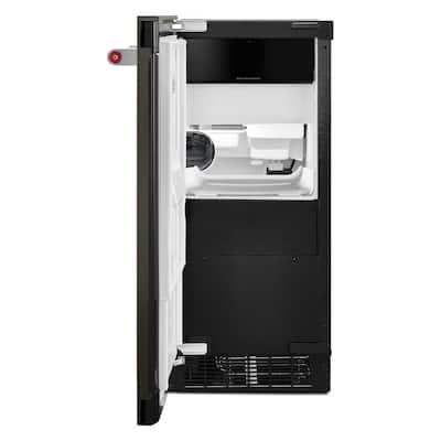 15 in. 50 lb. Built-In Ice Maker in PrintShield Black Stainless