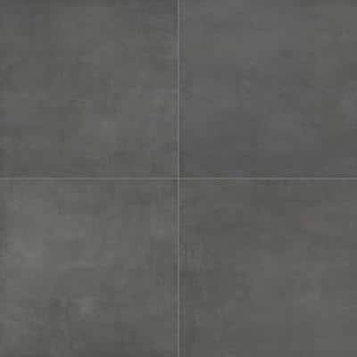 Beton Antracite 24 in. x 24 in. Matte Porcelain Paver Tile (14 pieces / 56 sq. ft. / pallet)