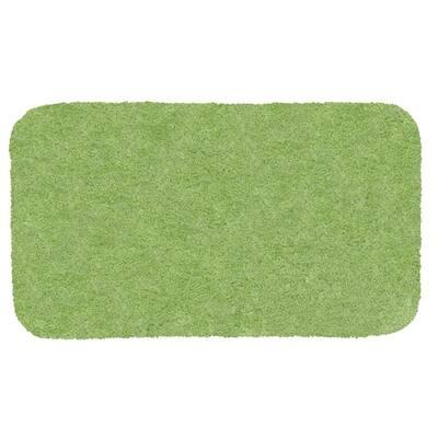 Royal Apple Green 17 in. x 24 in. Nylon Machine Washable Bath Mat