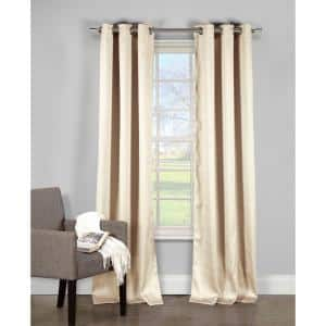 Duck River Aurora Crushed Chocolate Taffeta Grommet Panel Pair 52 In W X 84 In L In 2 Piece Augco 12 3257 The Home Depot